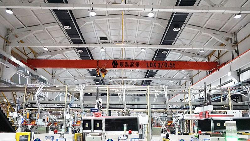 辰泓单梁起重机被多家企业认可,精密机械企业工程案例!